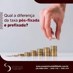 Entenda a diferença de taxa pós-fixada e prefixada.